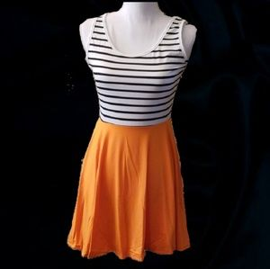Dresses & Skirts - Striped Peachy Orange Tank Dress